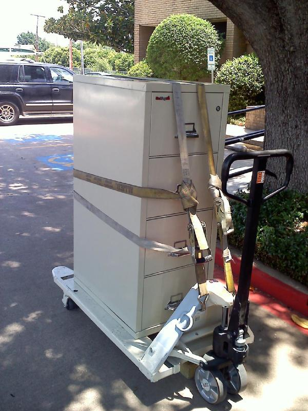 Fire file cabinet safe moving
